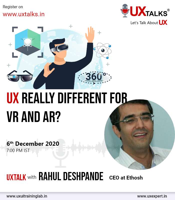 UX really different for VR and AR?